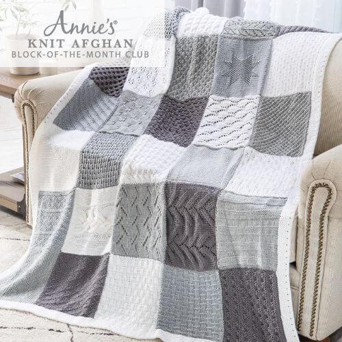 Annies Knit Afghan Block