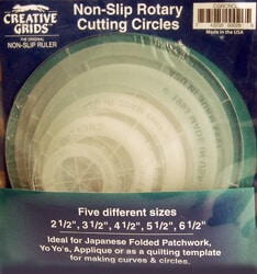 Creative Grids Quilting Ruler Circles
