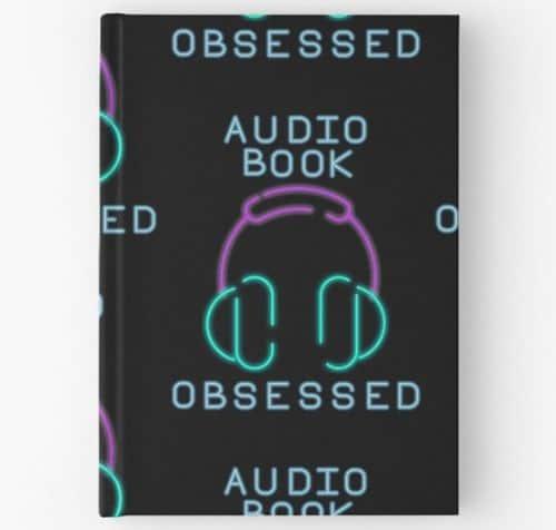 Neon Audiobook Obsessed Notebook