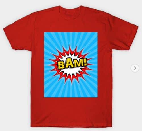 Pop Art Comic Book T Shirt