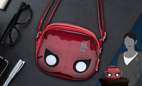 Spider Man Pin Collector Crossbody Bag