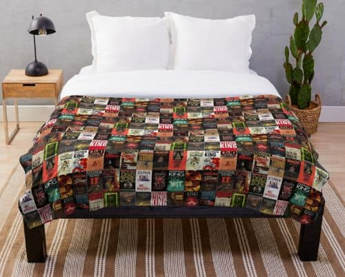Stephen King Book Cover Collage Throw Blanket