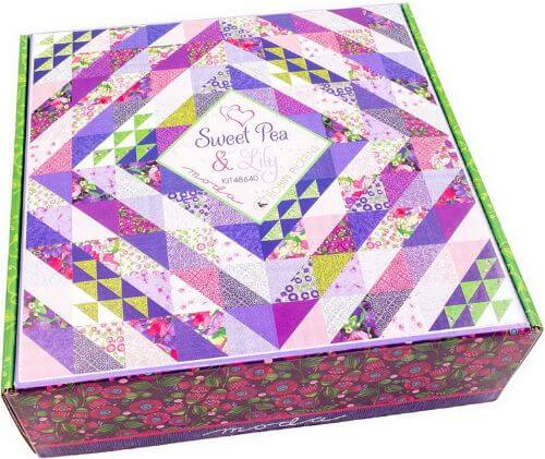 Sweet Pea And Lily Fabric Quilt Kit