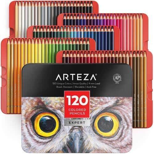 Arteza Professional Colored Pencils Set