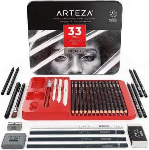 Arteza Professional Drawing Pencil Set
