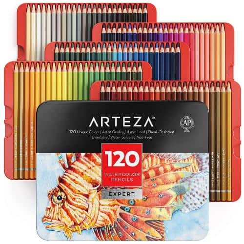 Arteza Professional Watercolor Pencils