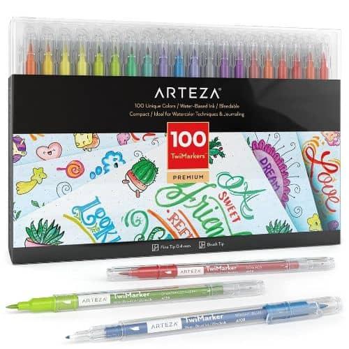 Arteza Sketch Twimarkers Set Of 100