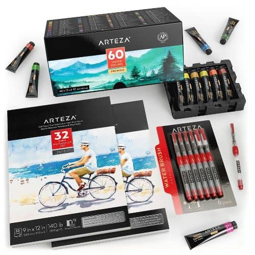 Arteza Watercolor Artist Bundle