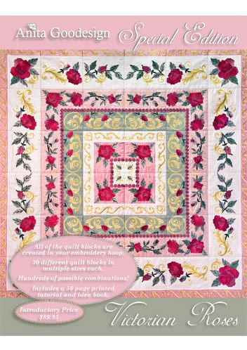 Anita Goodesign Victorian Rose 180 Designs