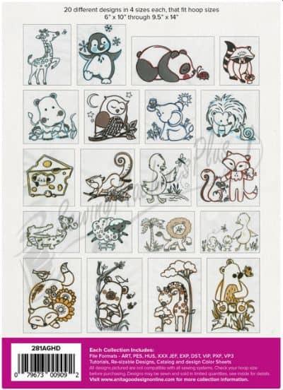 Anita Goodesign Animal Sketches
