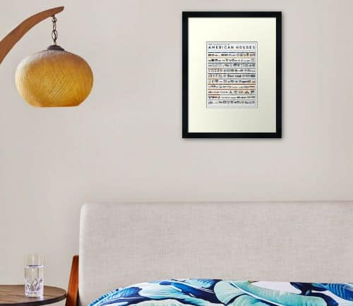 Architecture Of American Houses Framed Art Print