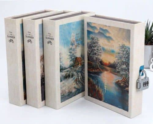 Art Print Diary With Lock