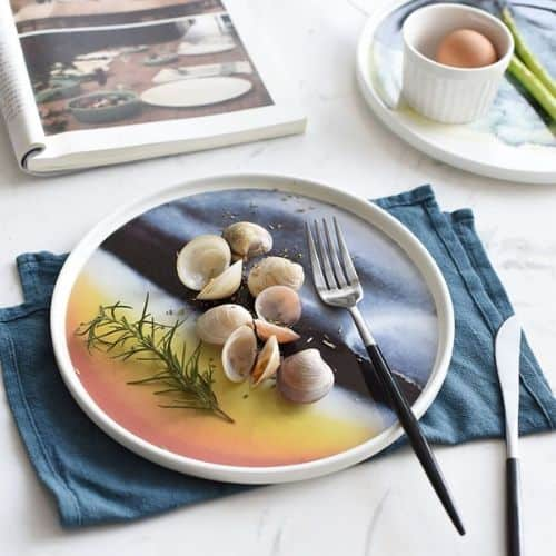 Artful Dining Watercolor Dinnerware