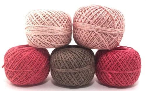 Dk Weight Naturally Herbal Dyed Recycled Silk Yarn Pack