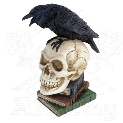 Poe's Raven Skull