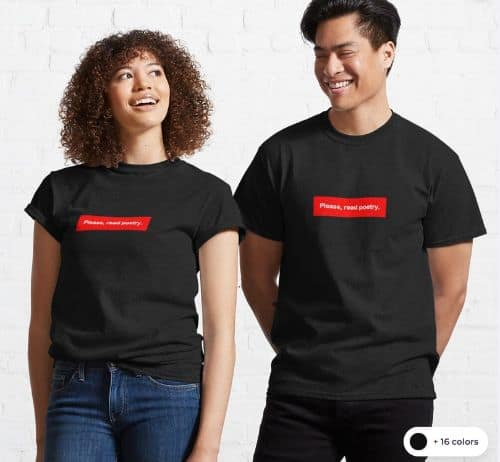 Poetry Classic T Shirt