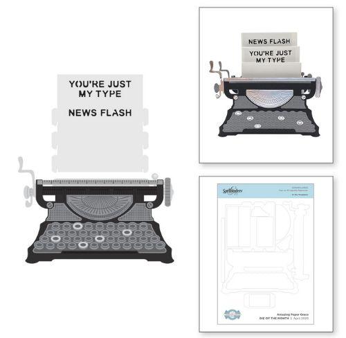 Pop Up 3d Vignette Typewriter Die Set