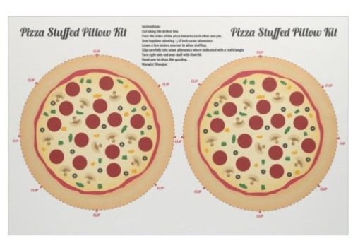 Pizza Stuffed Pillow