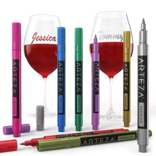 Arteza Wine Glass Acrylic Markers