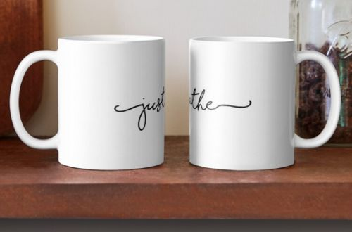 Just Breathe Calligraphy Mug 2