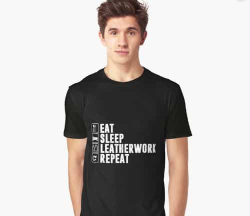 Leatherwork And Repeat Graphic T Shirt
