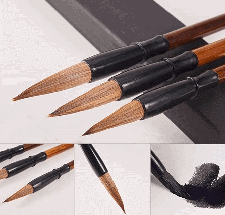 Sienna Traditional Chinese Calligraphy Brushes