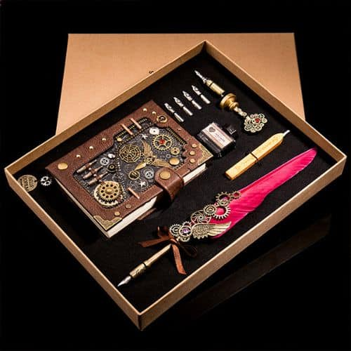 Steampunk Journal And Pen Set