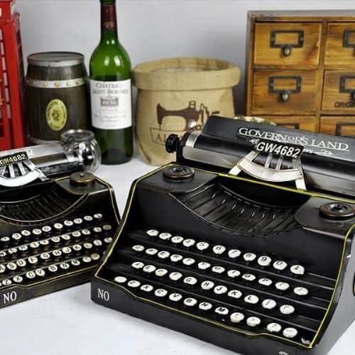 Vintage Faux Typewriter Decoration