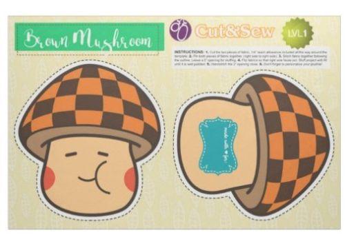 Brown Mushroom Plushie