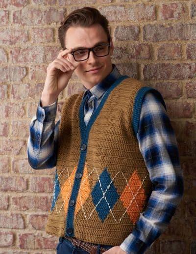 Men's Crochet Waistcoat