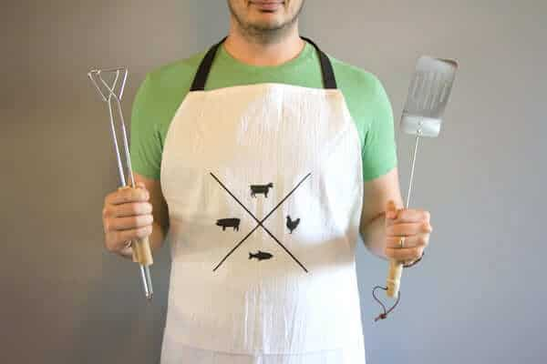 Stenciled Grilling Apron